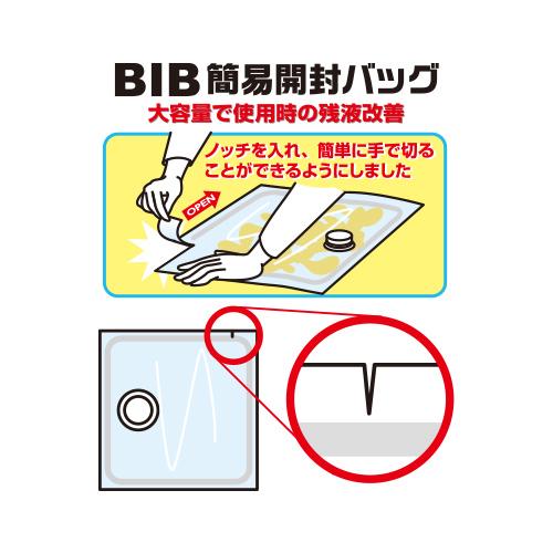 手で切れるBIBセパレートバッグ